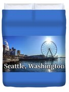Seattle Washington Waterfront  Duvet Cover