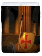 Secret Of The Knights Templar Duvet Cover