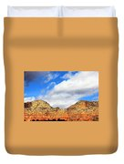 Sedona Jack's Trail Blue Sky, Clouds Red Rock Hills 5032 3 Duvet Cover