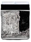 Self In Black Coloured Oil Transfer Drawing 11 Duvet Cover