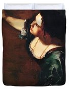 Self Portrait As The Allegory Of Painting 1639 Duvet Cover