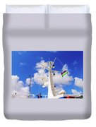 Semi-large Ship's Radar Tower And Headlights. Duvet Cover