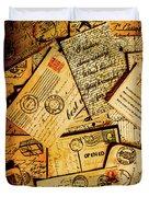 Sentimental Writings Duvet Cover