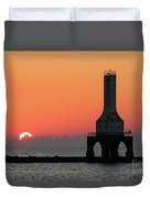 September Sunrise In Port Washington 1 Duvet Cover