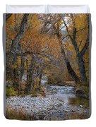 Serene Stream In Autumn Duvet Cover