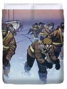 Shackleton In The Antarctic  Duvet Cover