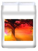 Shade Tree At Dawn Duvet Cover