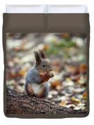 Shadow Boxing. Red Squirrel Duvet Cover