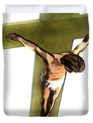Shadow Of The Cross Duvet Cover