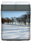 Shadows In The Snow Duvet Cover