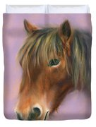 Shaggy Brown Pony Duvet Cover by MM Anderson