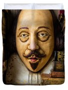 Shakespeare With Old Books Duvet Cover