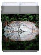 Shawanaga Rock And Reflections Iv Duvet Cover