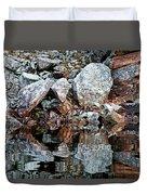 Shawanaga Rock And Reflections Vi Duvet Cover