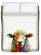 Sheep Portrait Duvet Cover