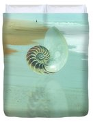 Shell Reflections In The Sand In The Soft Dawn Duvet Cover