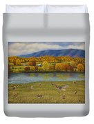 Shenandoah Valley Hawk Duvet Cover