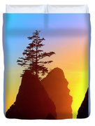Shi Shi Sea Stacks Duvet Cover