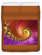 Shiny Purple And Gold Spiral Duvet Cover