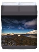 Shoreline With Driftice Duvet Cover