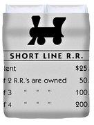 Short Line R.r. Duvet Cover