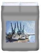 Shrimp Boats At Darien Duvet Cover