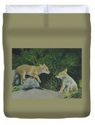 Sibling Rivalry Duvet Cover