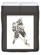 Sidney Crosby Pittsburgh Penguins Pixel Art 23 Duvet Cover