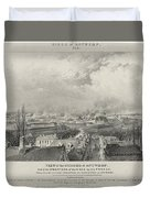 Siege Of The Citadel Of Antwerp Duvet Cover
