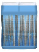 Silver Blue Plaid Abstract #4 Duvet Cover by Patti Deters