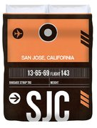 Sjc San Jose Luggage Tag II Duvet Cover