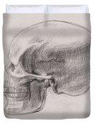 Skull Study Profile Duvet Cover