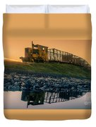 Sky Train Reflection Duvet Cover
