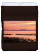 Sleeping Lady Sunset Duvet Cover