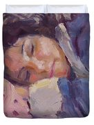 Sleeping Lady Duvet Cover