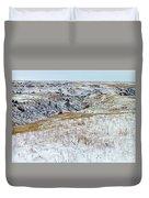 Slope County Snowfall Duvet Cover