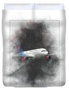 Slovak Government Flying Service Airbus A319-115 Painting Duvet Cover