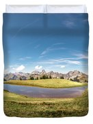 Small Lake In The Mountains Duvet Cover
