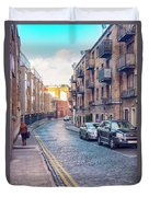 small street of Dublin Duvet Cover by Ariadna De Raadt