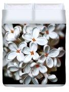Small White Flowers Digital Duvet Cover