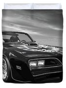 Smokey And The Bandit Trans Am In Mono Duvet Cover