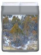 Snow-dusted In West Dakota Duvet Cover