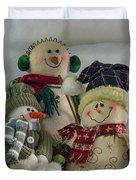 Snow Folk Duvet Cover