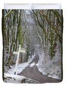 Snow In The Trees Duvet Cover