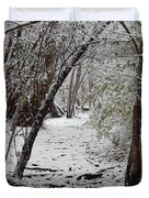 Snow In The Woods Duvet Cover