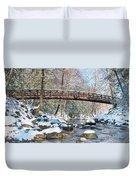 Snowy Bridge Duvet Cover