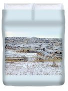 Snowy Slope County Duvet Cover