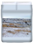 Snowy Slope County Territory Duvet Cover