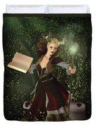Sorceress And Magic Duvet Cover