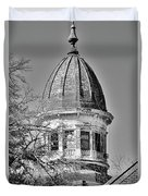South Carolina State Hospital Dome Black And White 3 Duvet Cover by Lisa Wooten
